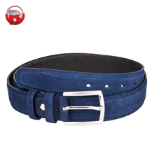 Hot selling high quality cheap fancy blue men pu leather belt