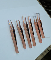 Pointed in Gold plated Collection of Beautiful custom eyelash tweezers