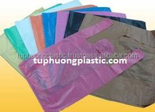 Vietnam Biodegradable on Roll HDPE Thank You Shopping Custom Printed Plastic T-shirt Bags
