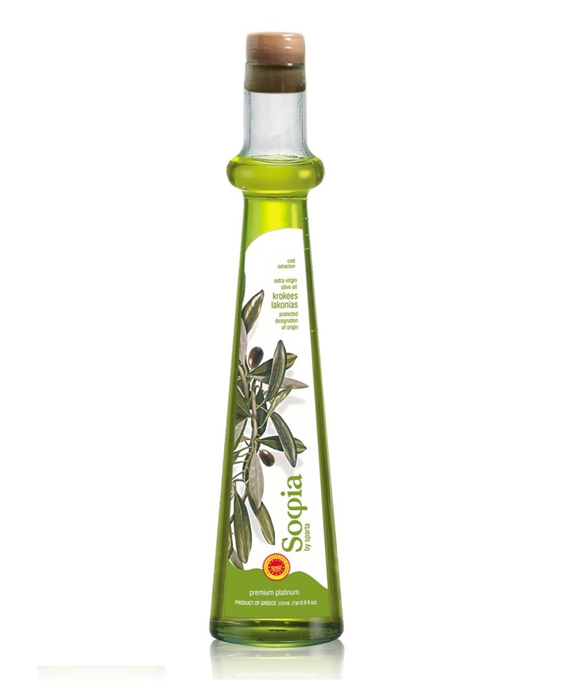 SOFIA - Greek PDO Krokees Lakonia Extra Virgin Olive Oil - Bottle 500ml