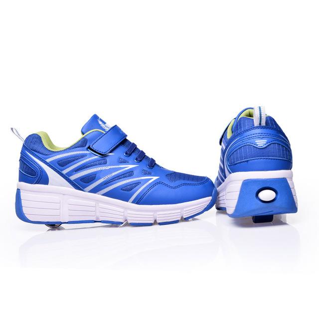 Wholesale Korea factory fashion sneaker new models sport shoes Roller Shoes Blue