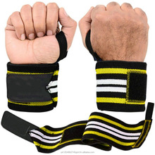 Heavy Duty 3 stripe design crossfit weight Lifting wrist wraps with thumb loop