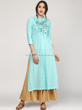 Women embroidered rayon, slit style kurta
