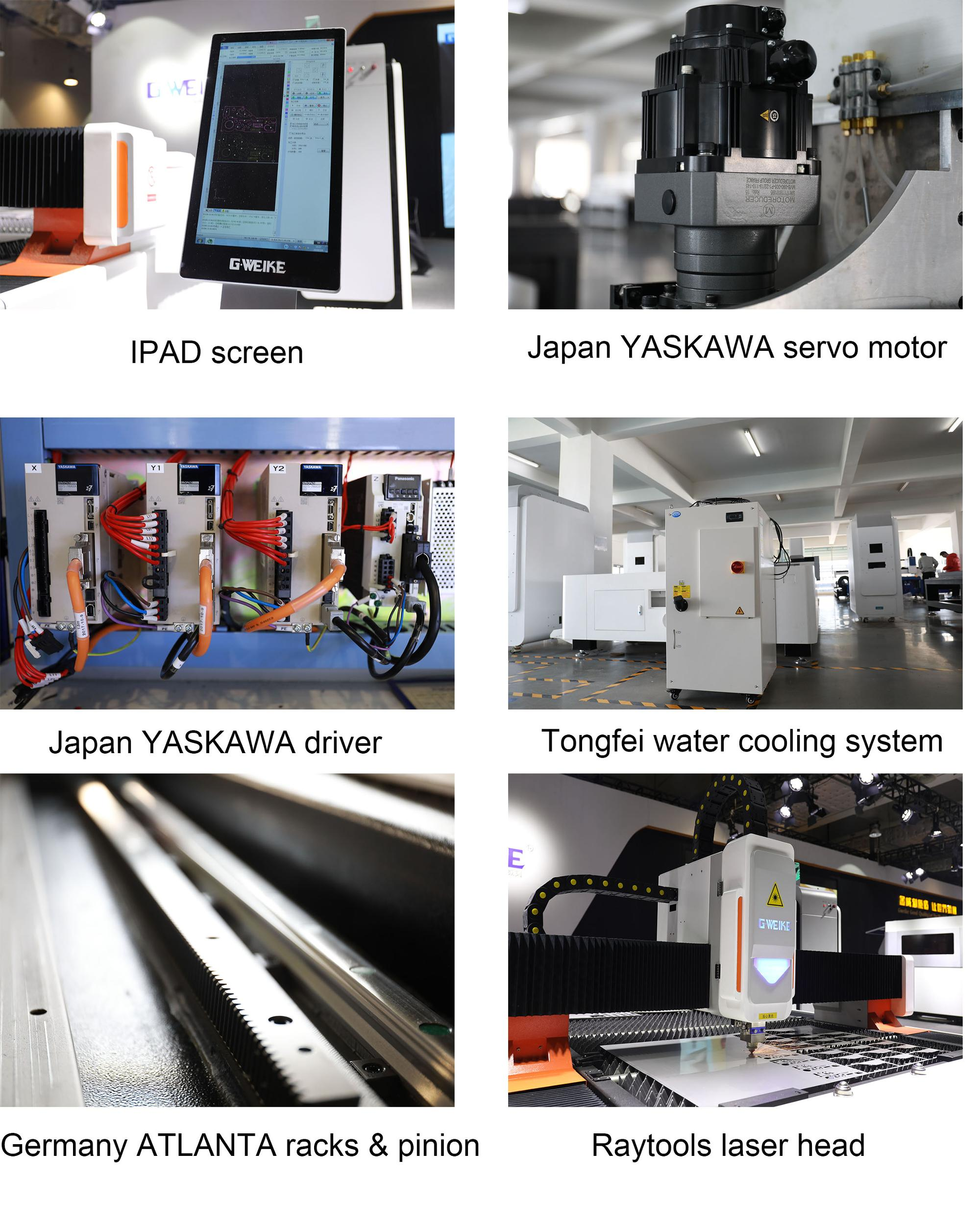 Fiber laser cutting machine for metal plate and metal tube