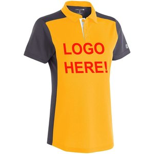 Yellow Black Custom Personalize OEM LOGO embroider screen print polo golf men gents tshirts polyester cotton 190gsm 220gsm pique