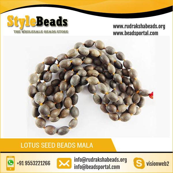 Lotus Seed Beads Mala Prayer Beads 108 Mala