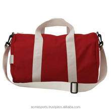 2018 Gym Sports Bag - High Quality customize printed cotton GYM bag in two toned red color