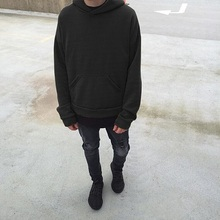 Canadian Style Man Hoodies Oversize Loose Drop Shoulder Solid Colours Pullover Hip hop Sweatshirt Fashion Men Clothing