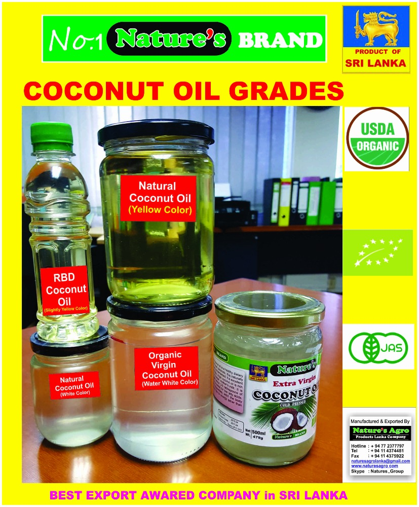 VIRGIN COCONUT OIL from Sri Lanka with Lowest price- ISO 22000 CERTIFICATED FACTORY- ORGANIC -EU/USDA/JAS/KOREAN Organic