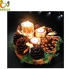 Factory Price Hand Made Wood Log Candle Holder