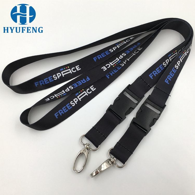 Fashion Polyester Material Customized Neck Strap Lanyards