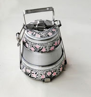 Best stainless steel candy color lunch box/ cartoon print tiffin box
