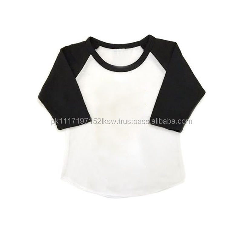 Wholesale Personalized Monogrammed Vintage 3/4 Length Sleeve raglan t shirt