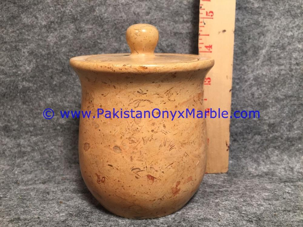Most Popular Products marble jars verona sahara beige marble handcarved lid sugar candy ginger
