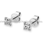 Best Reviewed 18K 0.160CT white gold Diamond real what is my earrings size 3 carat engagement diamonds earring