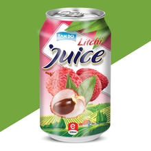 Vietnam 330ml Alu Can/ OEM lychee juice with pulp/ Competitive price/ small MOQ/ hot sale Fruit ( Mangosteen, Soursop, Mango,..)