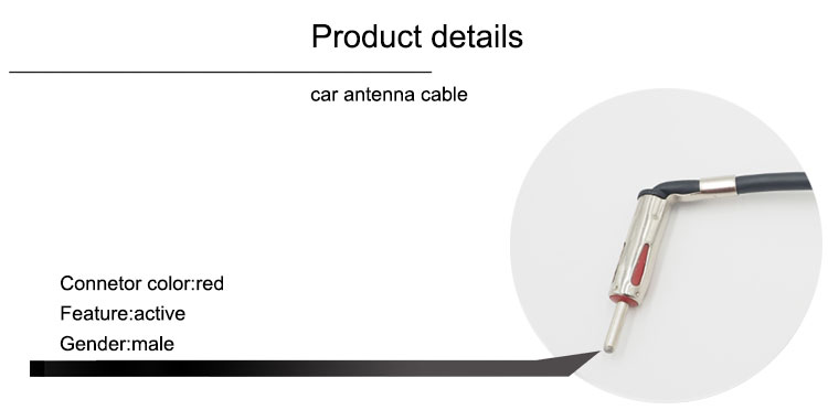 Good angle car extension antenna cable male to female terminal in china