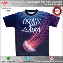 Sublimation all printing custom t shirts regular fit