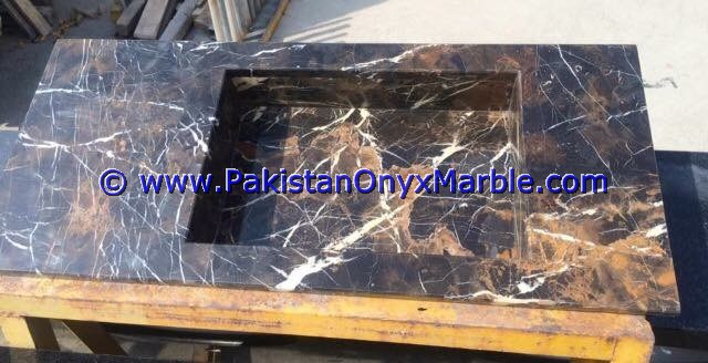 BEST PRICE marble pedestals sinks basins handcarved wash basins free standing Black and Gold marble