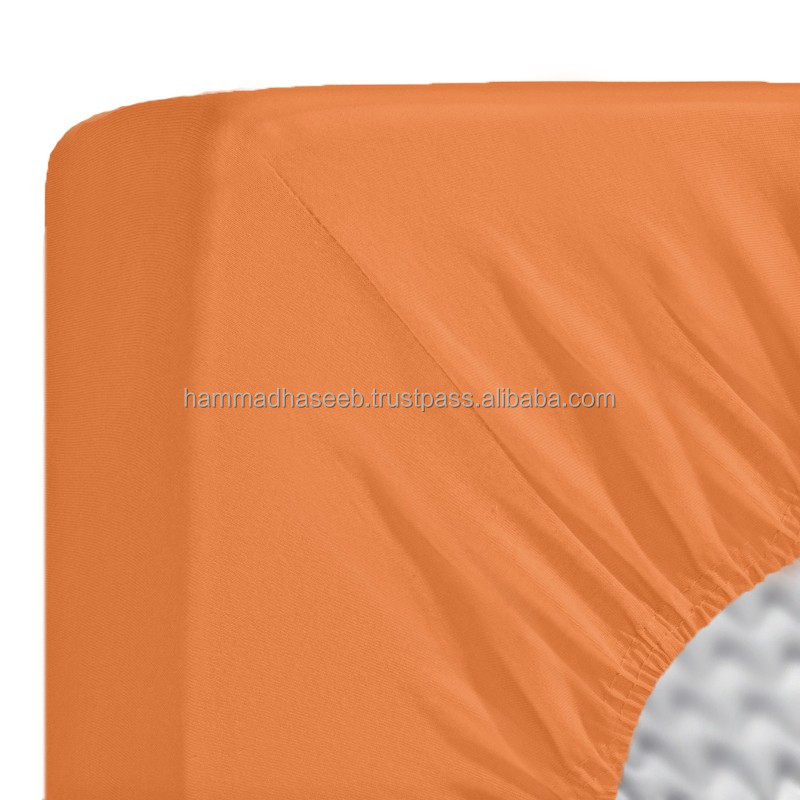 Polyester Jersey Fitted Sheet, Super Stretch