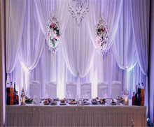 RK Hot Sale pipe and drape curtain for wedding background