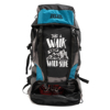 Get Unbarred Adventure Stylish Series 55 Ltr Large Capacity Bag for Trekking Hiking Camping and Travel Backpack - Black/Blue