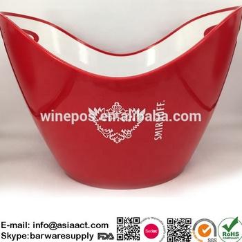 ice bucket, plastic ice bucket, Smirnoff bucket, MS bucket