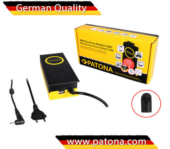PATONA 90W Synchron Adapter - Laptop charger Acer, Asus, Hipro: 3 x 1,1 x 10 - 19V incl. USB Output: 5V-2,1A