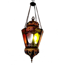 BR353 Vintage Reproduction Classic Moroccan / Egyptian Art Hanging Lantern/Lamp