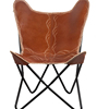 Stylish Genuine Quality Leather Butterfly Chair