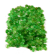 Exclusive aaa+ grade quality natural green emerald 4x5mm-7x9mm oval cabochon shape loose gemstone for sale