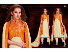 New Salwar Kammez Fashion Designer Banarasi silk Pakistani Designer Suit