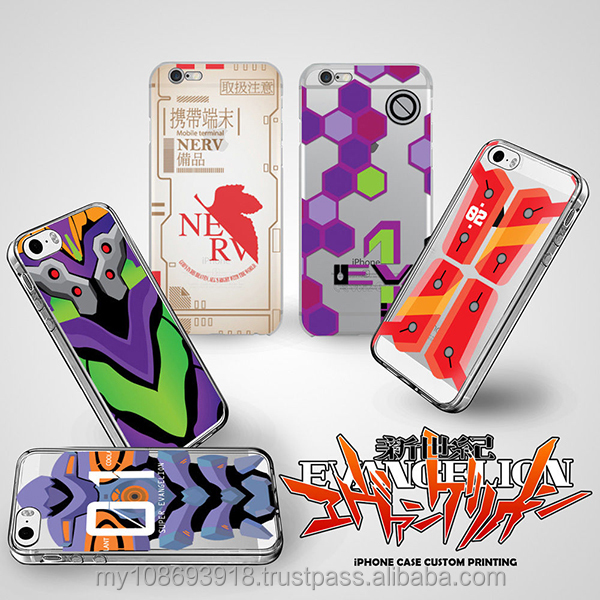 Evangelion Part 1 Hard & Soft Slim TPU Case Cover for Apple Phone