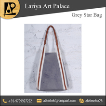 Exclusive Range of Light Weight, Durable Finish Grey Star Bag at Competitive Price