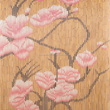Beautiful Cherry blossom bamboo curtain for bedroom / Painted Door Blinds bamboo Curtains Home Decor made in VietNam