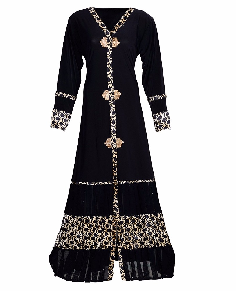 Women stretchable abaya 2017 / ladies casual wear burkha for islamic wear / islamic clothing 2017 (dubai abaya 2017)