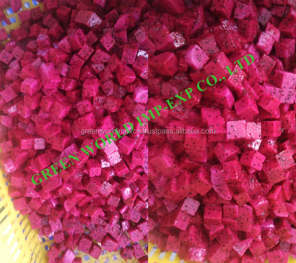 FROZEN RED PINK PITAYA SLICE - ORGANIC QUALITY - BEST PRICE FOR NOW