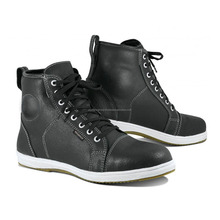 Sneakers Leather Motorbike Cafe Racer Shoes