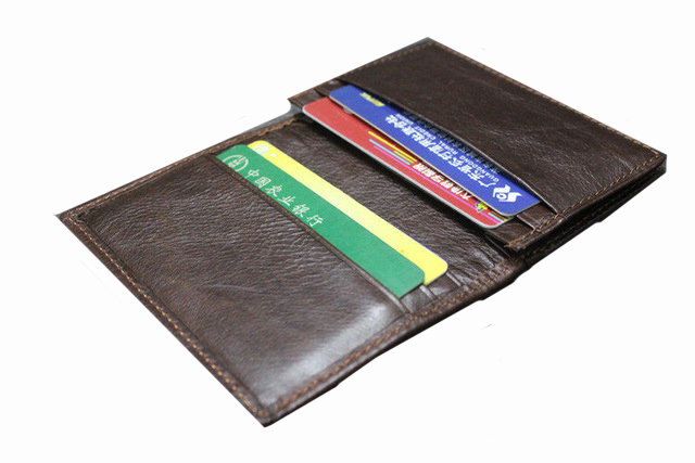 Saffiano leather business card case
