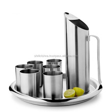 Custom double wall stainless steel water jug , glass