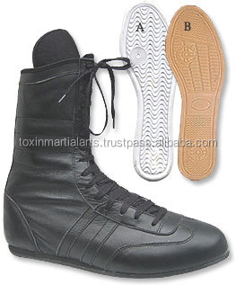 Boxing Shoes made of artificial leather with mesh fabric latest design Boxing shoes