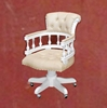 Furniture Classic Swivel Chair Mahogany French Style White Color