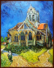 Professional Ukraine Artist Handmade Oil Painting Handpainted High Quality Reproductions Vinsent Van Gogh Impressionist Church