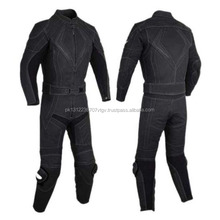 Moto Bike Racing Mens 1 piece Leather Suit with Protectors