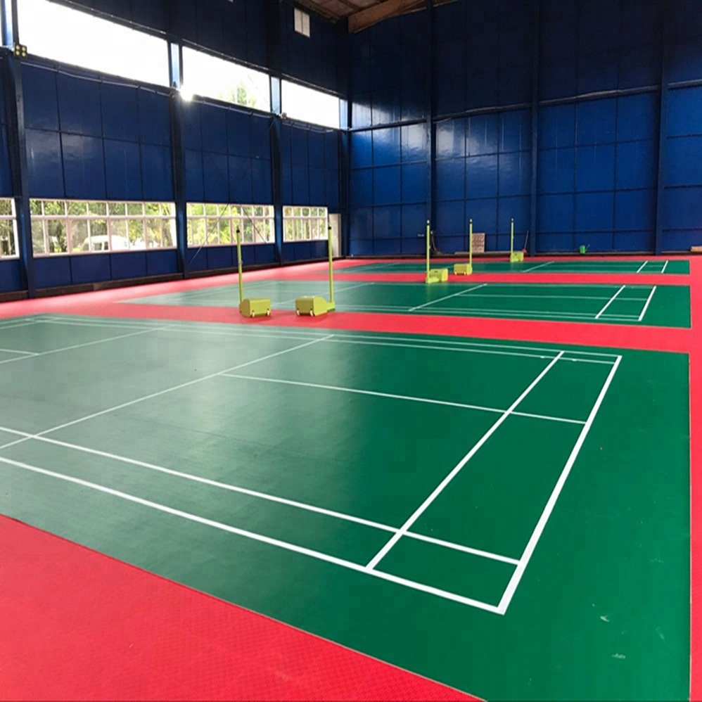 Badminton club used PVC synthetic Badminton flooring mat