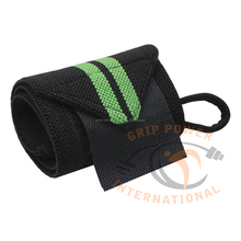Power lifting wrist straps , green lining custom design weight lifting straps 12""