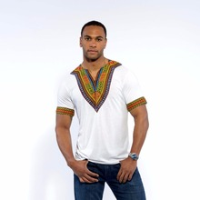 Hot white dashiki african shirts new arrival printed clothes for men