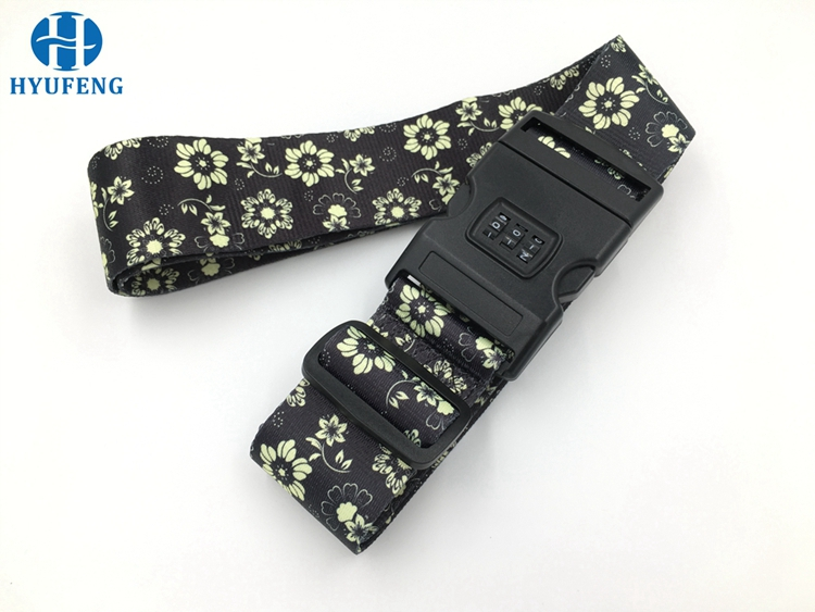 promotional travel custom adjustable personalized tsa luggage strap