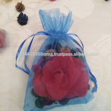 Thai Incense with silk flower and dried flower in bag/ lovely pot for wedding gift