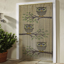 Natural handmade bamboo beads door curtains made in Vietnam